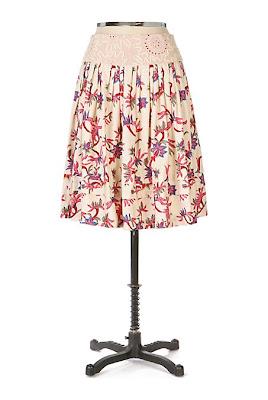 Anthropologie Palmetto Skirt