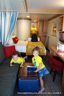 cruise stateroom, family on cruise