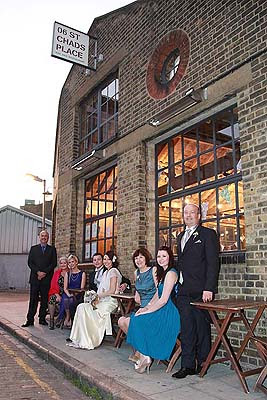 wedding family group photo outside St Chads place