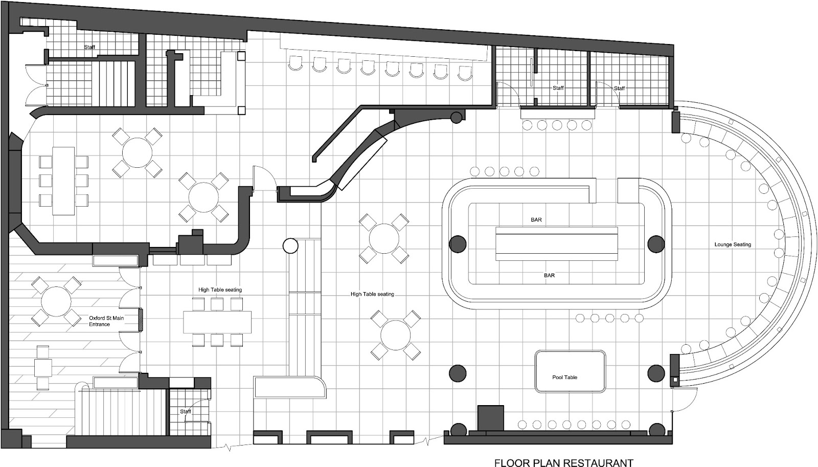 Designers are meant to be loved not to be understood for Nightclub floor plans