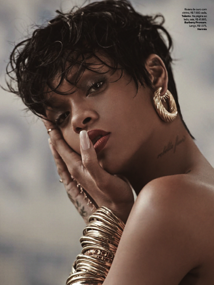 Rihanna by Mariano Vivanco x Vogue Brazil May 2014