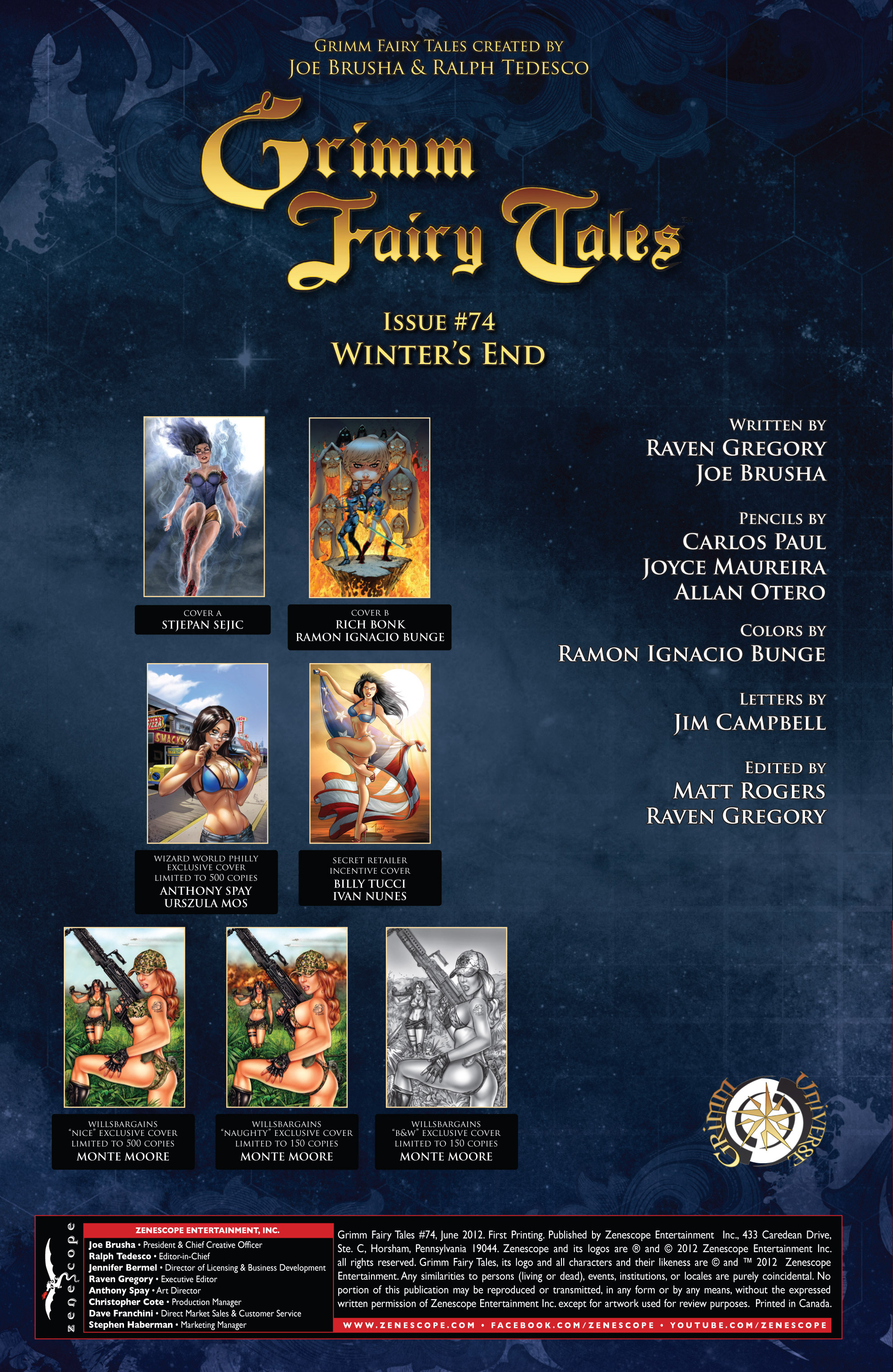 Grimm Fairy Tales (2005) Issue #74 #77 - English 2