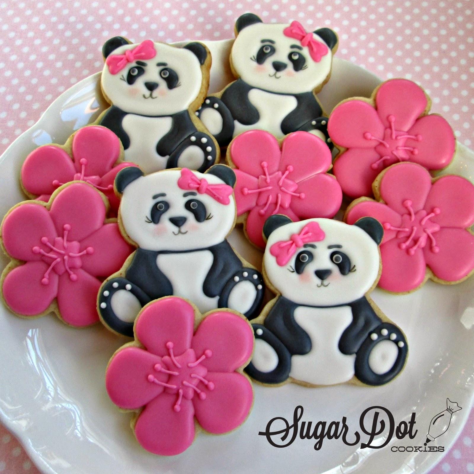 Sugar Dot Cookies: Lots of Panda Sugar Cookies