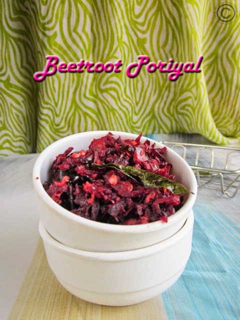 Beetroot-poriyal