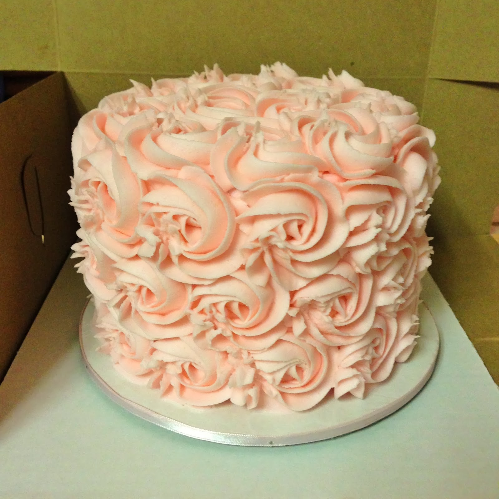 Pink Rosette Cake Images : Cakes by Mindy: Pale Pink Rosette Cake 6