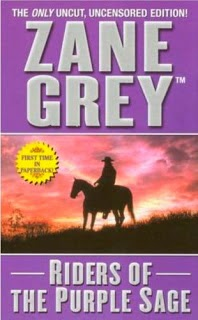 Where band name New Riders of the Purple Sage comes from - Grey, Zane, Leisure Books, 2006