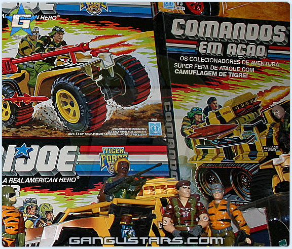 Tiger Force G.I.Joe Brazil Europe exclusives Lifelinr Roadblock