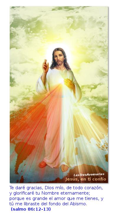 divina misericordia jesus en ti confio con el salmo 86