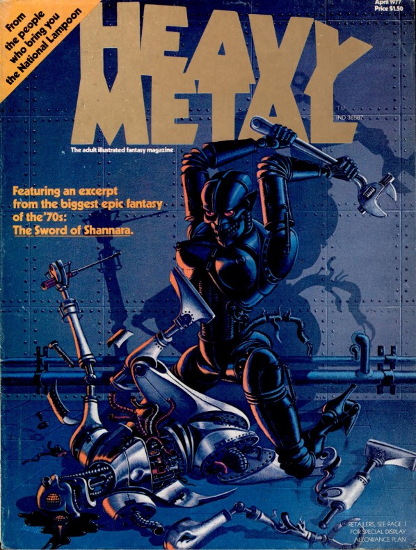 Vintage everyday heavy metal magazine covers from the 1970s