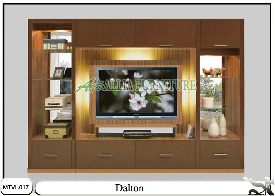 Lemari desain tv lcd minimalis Dalton