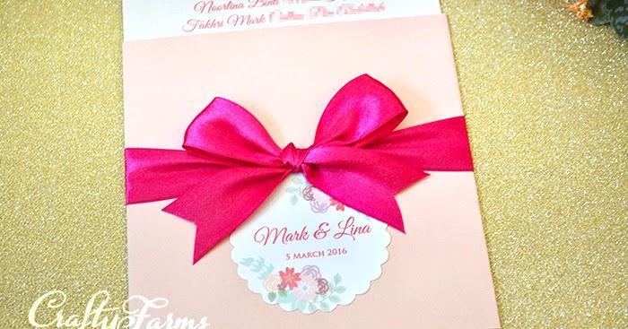 Wedding Gift Card Malaysia : Wedding Card Malaysia Crafty Farms Handmade : Pink Pocket Wedding ...