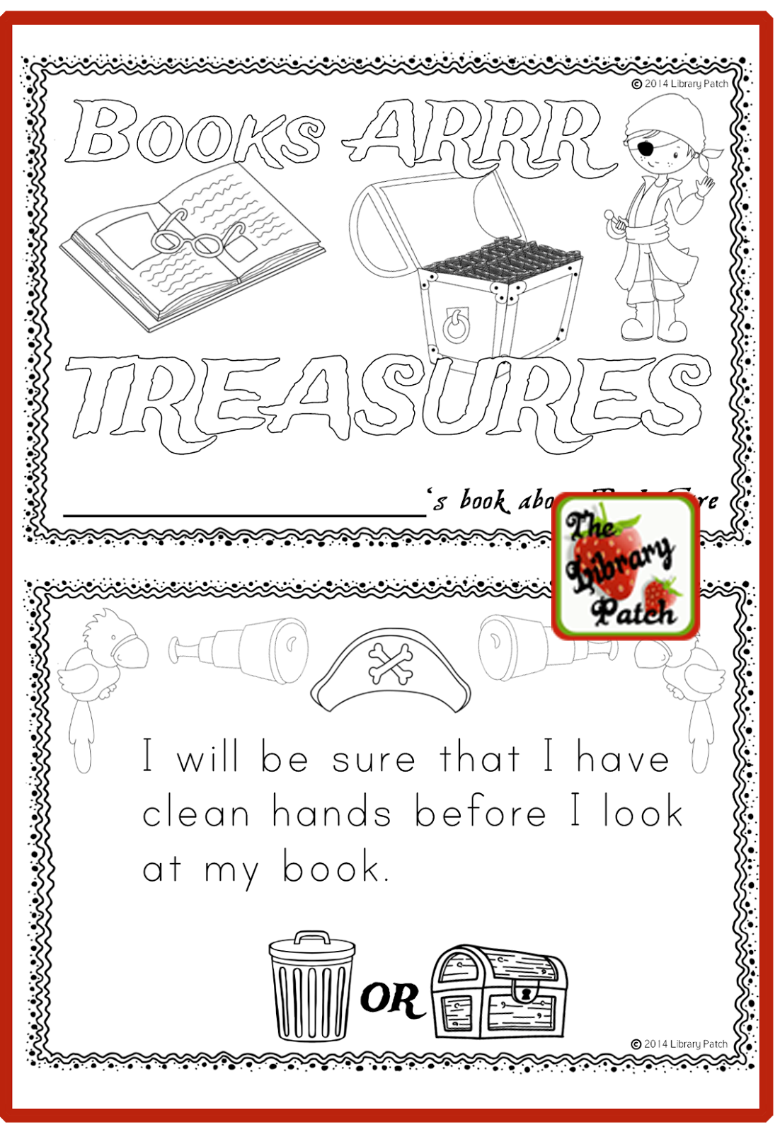 library patch 6 ideas for teaching book care