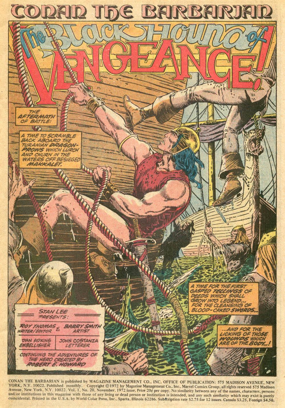 Conan the Barbarian (1970) Issue #20 #32 - English 2