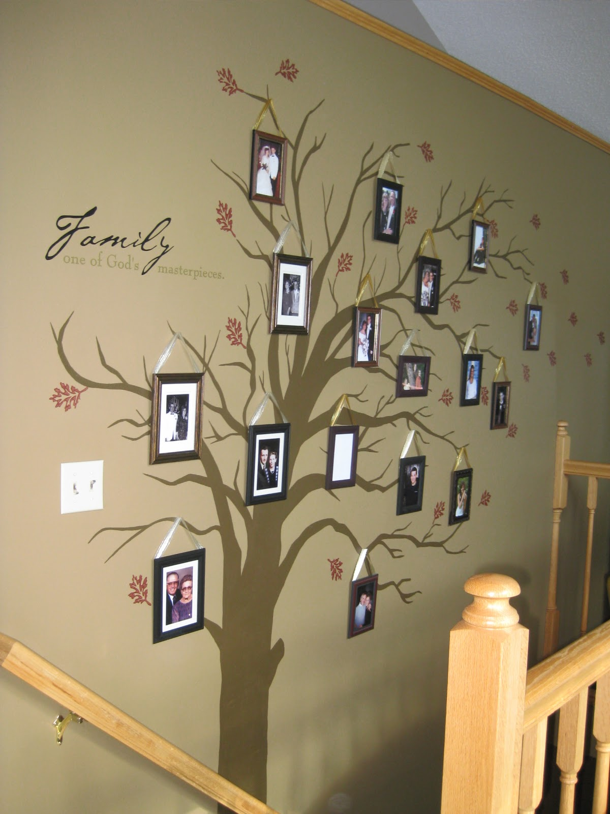 Lessiz moore diy family tree home decor for Diy family tree wall mural