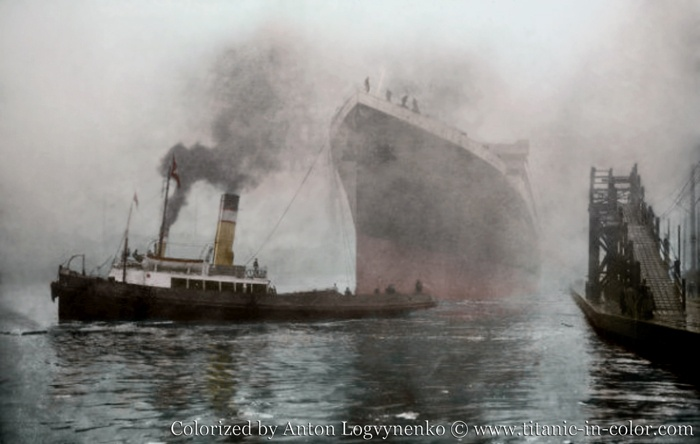 See a real pictures of titanic in color