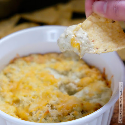 This hot, spicy, cheesy vegetarian dip has the flavor of a cheese-stuffed pepper without all the fuss. Salsa verde provides the heat in a smooth dip great for parties and game day snacking.
