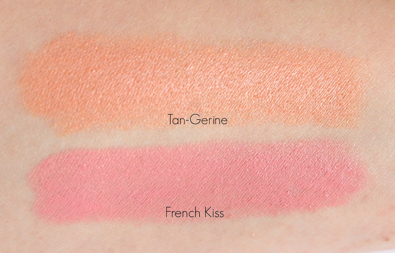 NYX High Voltage Lipstick in French Kiss and Tan-Gerine