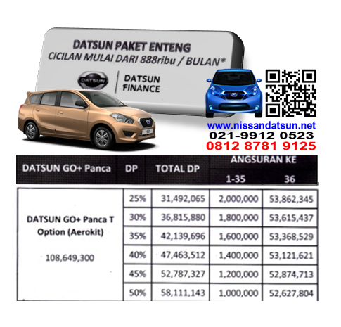 KREDIT DATSUN GO+ PANCA T OPTION ( AEROKIT ) PAKET ENTENG
