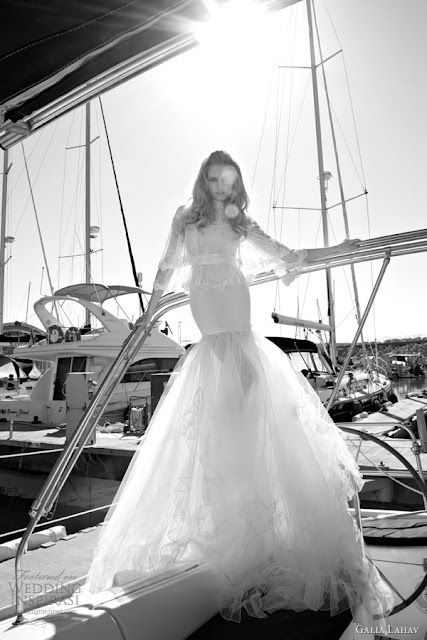 Galia Lahav mermaid lace wedding  dress 2013 2014