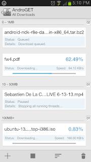 Cara Mempercepat Download File Berukuran Besar Di Android Dengan AndroGET