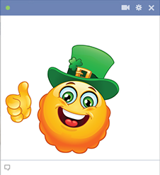 Smiley with Irish hat