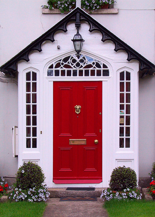 Beautiful Front Doors Simple Of  an inviting front door and here flanked by black and white exterior Photos