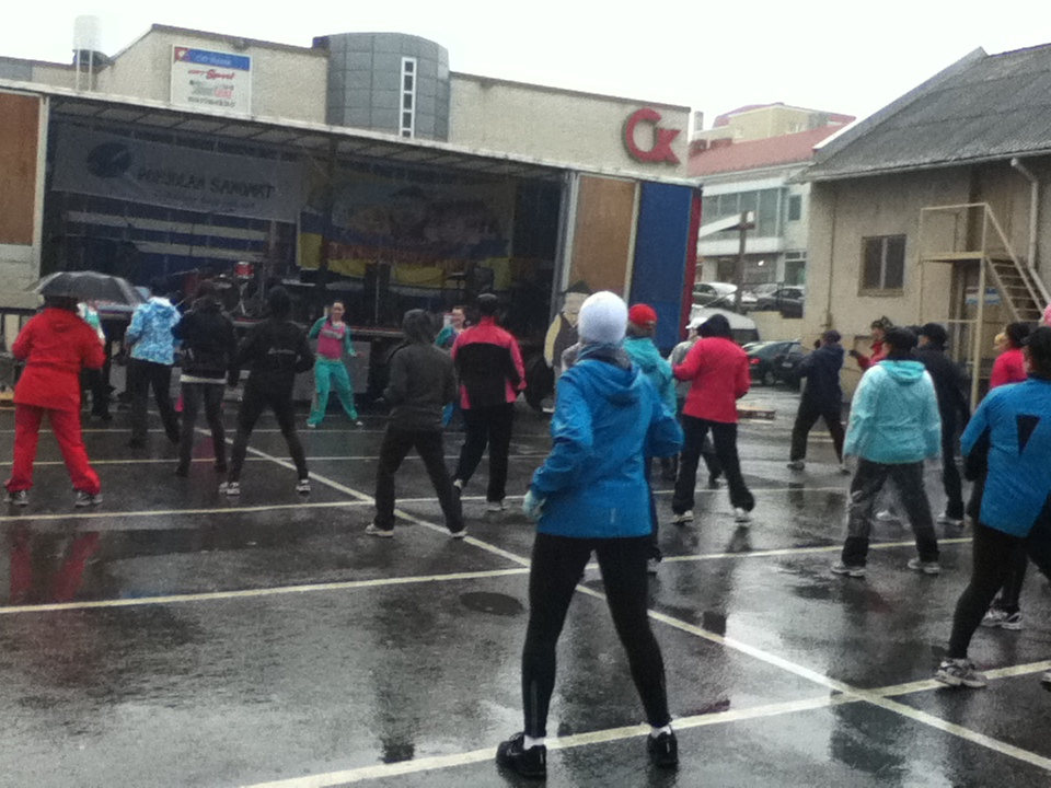 people dancing in the rain. people dancing in the rain