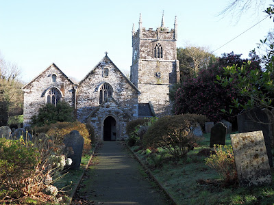 St Symphorian church, Veryan, Cornwall
