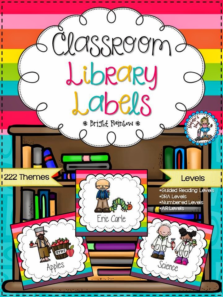 http://www.teacherspayteachers.com/Product/Classroom-Library-Labels-Bright-Rainbow-1298676