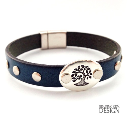 How to rivet a leather bracelet using compression rivets for Rivets for leather jewelry