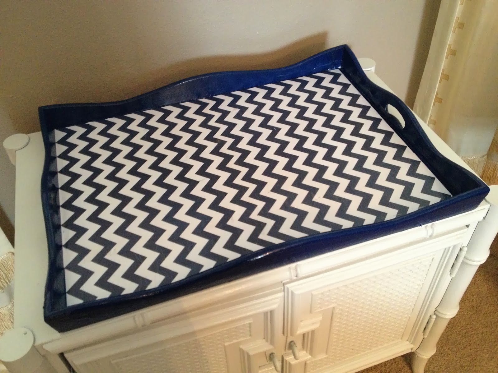 Make your own chevron coffee table tray crackerjack23 for Make your own coffee table
