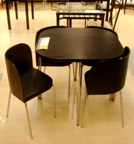 Ikea compact dining table and chairs images for Compact dining table