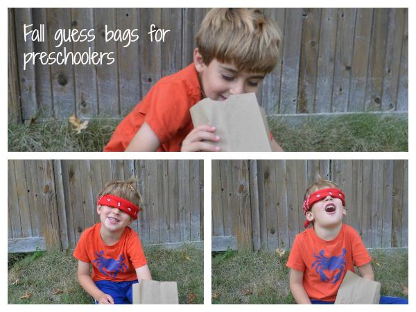 Preschooler fall sensory bag
