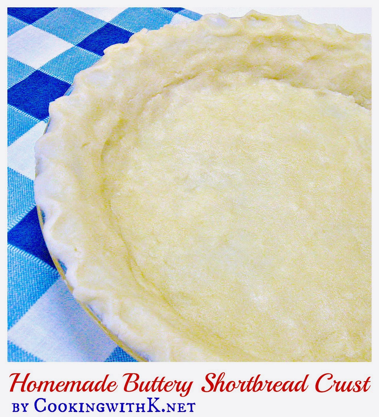 Shortbread cookies crust recipe