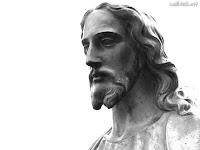 Escultura da foto de Jesus