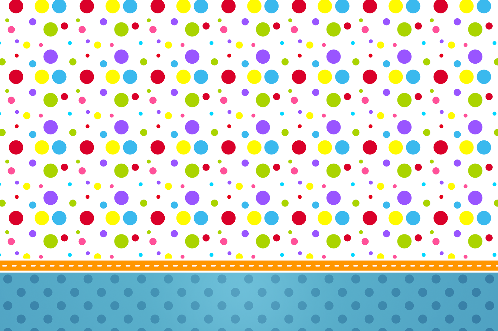 Colored Dots Free Printable Invitations And Free Party