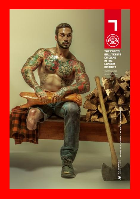 Alex Minksy stars in Mockingjay Poster