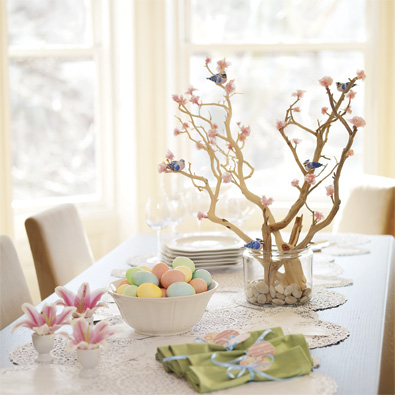 quick easter table decoration and centerpiecesinterior. Black Bedroom Furniture Sets. Home Design Ideas