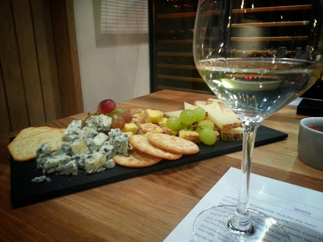 1855 Oxford cheese plate and wine