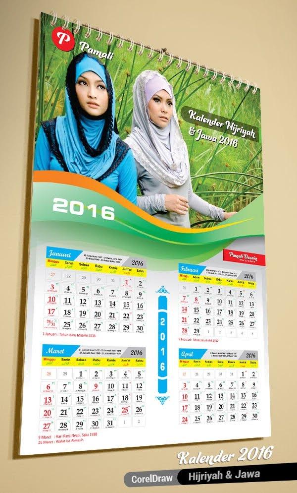 desain kalender dinding untuk promosi 2016 islami