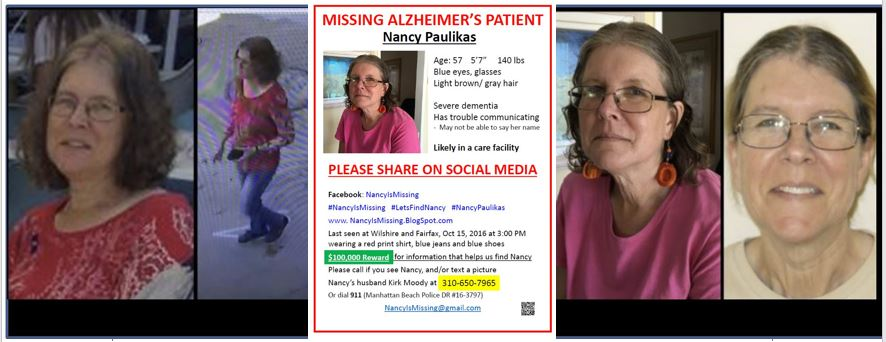 URGENT: $NEW 100,000 REWARD... Nancy Paulikas Is Still Missing!