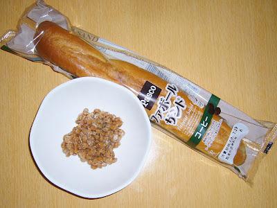 納豆にパスコ・ファボールサンド・コーヒー感覚