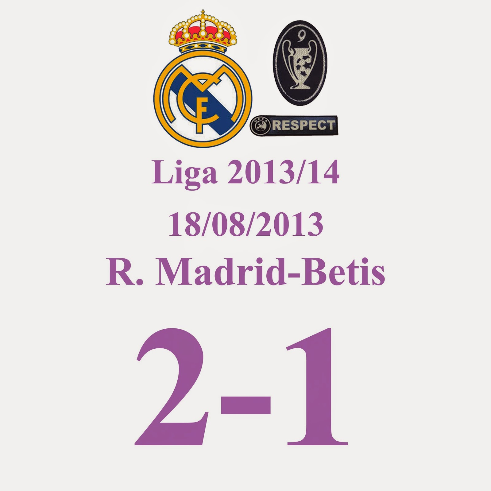 Real madrid 2 -Betis 1