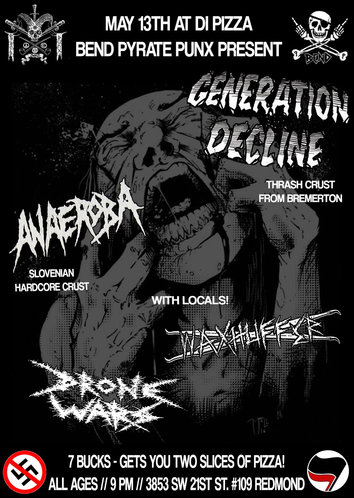 GENERATION DECLINE, ANAEROBA, WAXHUFFER, AND DRONE WARS