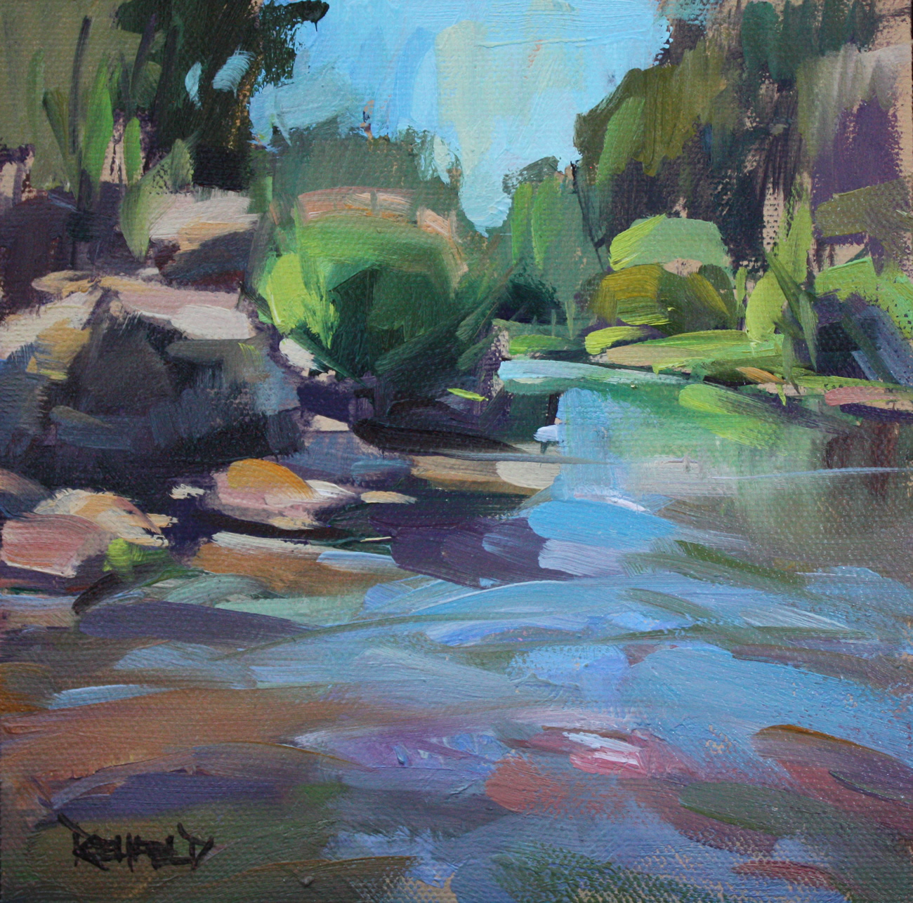 Cathleen Rehfeld Daily Painting The Hood River