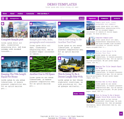 DeNews Purple Blogger Template