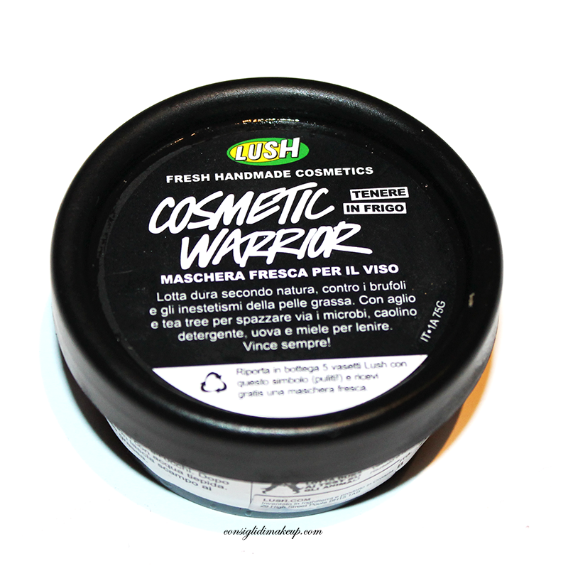 Review: Maschera Fresca Cosmetic Warrior - Lush Cosmetics