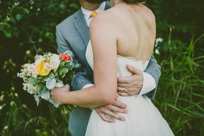 Mariage coloré et délicat