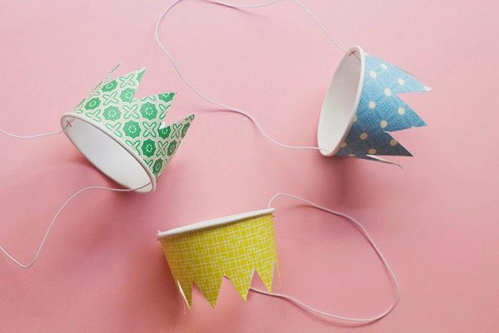 Diy+paper+cup+crowns