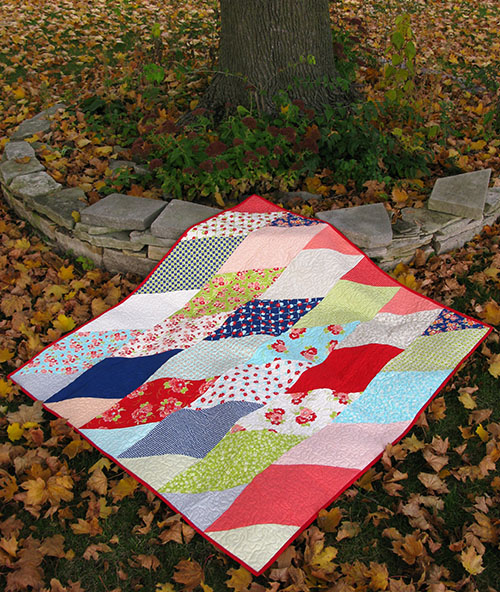 Fat Eighth Frenzy Quilt at Freemotion by the River